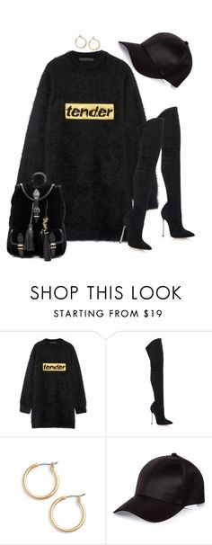 """Untitled #1120"" by styledbyhkc ❤ liked on Polyvore featuring Alexander Wang, Casadei, Nordstrom, River Island and Yves Saint Laurent"