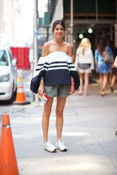 Girl on the Street: New York Fashion Week - Leandra Medine in Rosie Assoulin top