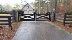 Sales Service Installation and Repair, Security Gate and Driveway Gate Birmingha. Driveway Entrance Landscaping, Driveway Fence, Driveway Design, Fence Gate, Fence Design, Fencing, Farm Gate, Farm Fence, Front Gates