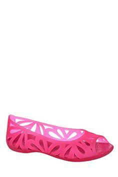 e2f752e368ae9b Crocs Adrina III Peep Toe Flat