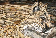 Detail of mosaic wall by Pierson Masonry.