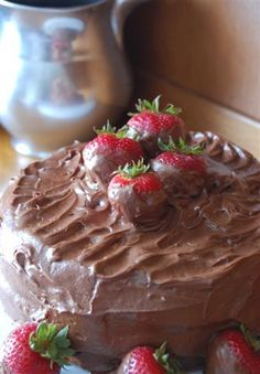 Heritage Schoolhouse: Chocolate Covered Strawberries Cake
