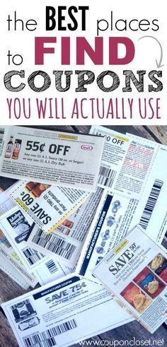 Struggling to find coupons that your family will actually use. Here are the BEST PLACES TO FIND COUPONS YOU CAN USE TO SAVE Money.