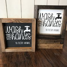 Wash Your Hands: Farmhouse Style Sign by HunnyDoDesigns on Etsy https://www.etsy.com/listing/534539668/wash-your-hands-farmhouse-style-sign