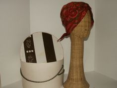 Vintage Red Print Turban Hat from 50's Carson Pirie by ReHang, $29.00