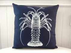 Spiny Lobster silk screened cotton canvas by utilitarianfranchise