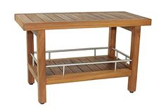 The Original Spa 30 Teak  Stainless Shower Bench With Shelf -- Be sure to check out this awesome product.