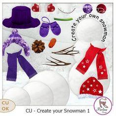 CU Cree ton bonhomme de neige 1 by PerlineDesign