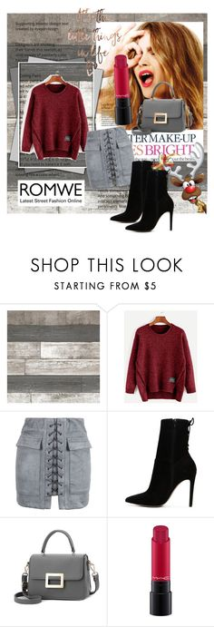 """""""Burgundy is my favourite colour"""" by medicmagdalena ❤ liked on Polyvore featuring Celestine, WithChic, ALDO and MAC Cosmetics"""