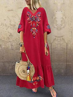 Maxi Dress With Sleeves, V Neck Dress, Floral Maxi Dress, Short Sleeve Dresses, Dress Red, Short Sleeves, Gold Dress, Navy Dress, Dress Lace