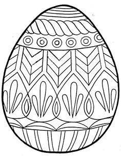 Blank Easter Egg Coloring Pages