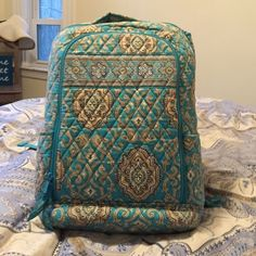 Vera Bradley Laptop Backpack Great laptop backpack for any student or professional. Lots of organizational space and a laptop area that keeps your laptop safe and easily accessible Vera Bradley Bags Backpacks