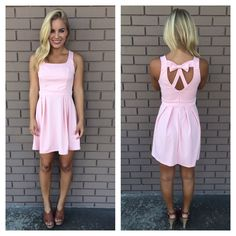 bow, dress, fashion, heels, outfit, pink, style