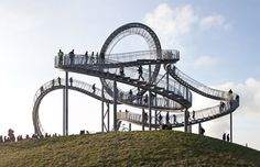 Tiger & Turtle - Magic Mountain overlooking the Rhine in Duisburg, Germany