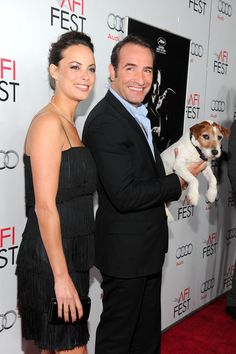 Berenice Bejo, Jean Dujardin and Uggie from the incredible movie, The Artist