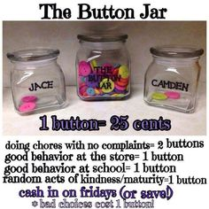 Except I'd use mason jars! Such a great idea for keeping track of the kiddos weekly allowance!