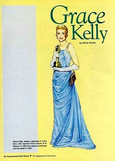 Grace Kelly Paper Dolls by Elaine Shants