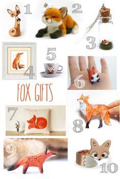 Fox Gifts | A Blackbird's Epiphany - UK Handmade and Creative Writing Blog: Fox Gifts