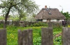 Znalezione obrazy dla zapytania podlasie wieś Poland Travel, Magic Forest, House Doors, Krakow, Urban Photography, Country Living, Warm And Cozy, Gazebo, Outdoor Structures