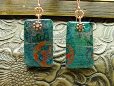 Polymer clay earrings #2, via Flickr.