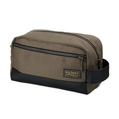 8feceedd39a Amazon.com   Toiletry Bag for Men  Canvas Dopp Kit for Travel, Gym,  Grooming   Shaving, Waterproof Lining, 10