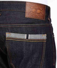 Ol Fashion, Denim Fashion, Fashion Pants, Fashion Details, Raw Denim, Denim Jeans Men, Jeans Pants, Leather Label, Biker Leather