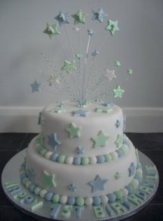 Little boys 1st birthday cake By Amy1505 on CakeCentral.com