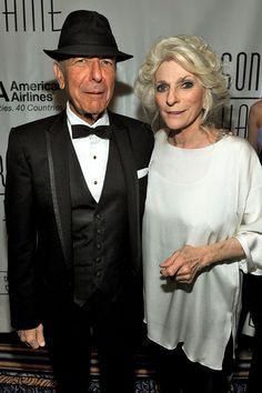Leonard with Judy Collins at the 41st Annual Songwriters Hall of Fame Ceremony in 2010
