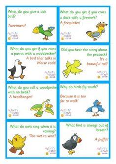 Bird Jokes Lunch Box Notes