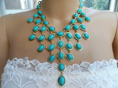 Hey, I found this really awesome Etsy listing at https://www.etsy.com/listing/163452267/new-daisynecklace-turquoise-bubble