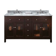 "60"" LEXINGTON Bathroom Vanity (Light Espresso)"