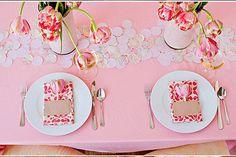Caminos de mesa para la boda, encaje