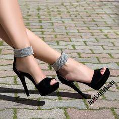 Taşlı Platform Ayakkabı #heels