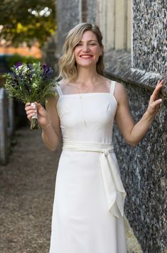 How damn fabulous does Rosie look in her Ivory Berlin dress? Ivory Bridesmaid Dresses, Ivory Dresses, Wedding Dresses, Alternative Bride, Party Guests, Mix N Match, Berlin, That Look, White Dress