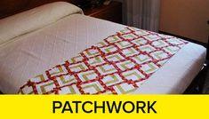 La técnica dePatchworkconsiste en unir con costura a máquina, trozos de telas Online Gratis, Dory, Bed Sheets, Patches, Quilts, Sewing, Floral, Home Decor, Patchwork Cushion