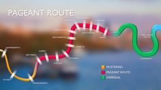 The River Pageant Route - oh, I can't wait to see the flotilla!