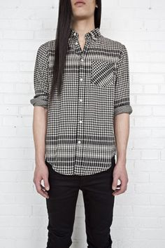 ACNE, SS11 STRAIGHT CHECK: it's the pocket. it's the flat-ironed jesus hair. #acne #shirt