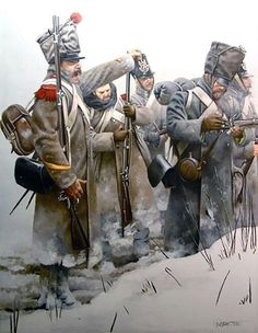 French Infantry in Russia,  a sergeant-major of 3rd company commanding a mixed bunch