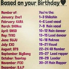 Kpop birthday game.  I'm BTS's lead dancer.  I love rap, but I'm as coordinated as a drunk squirrel.   XD