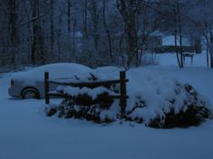 The first snowstorm of the fall of 2013 (Dec. 14th). We got 8 inches.