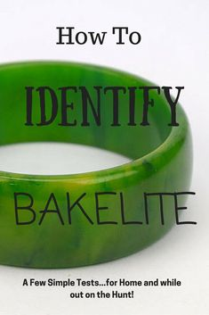 , How To Identify Bakelite - A few simple tests you can perform at home AND even w. , How To Identify Bakelite - A few simple tests you can perform at home AND even while out on the hunt for vintage! Old Jewelry, Jewelry Crafts, Antique Jewelry, Vintage Jewelry, Jewlery, Silver Jewellery, Luxury Jewelry, Jewelry Art, Jewelry Ideas