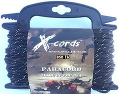 Quick deploy paracord from x-cords no more tangles or knots. Easy to carry and store your paracord 850 holds 100 feet no problem.  Here is the link http://www.amazon.com/Paracord-Stronger-Government-Certified-Contractor/dp/B00WAIINZO/ref=sr_1_22?s=hunting-fishing&ie=UTF8&qid=1430679497&sr=1-22&keywords=paracord