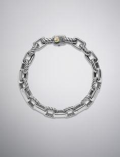 David Yurman - Empire Link Bracelet with Gold