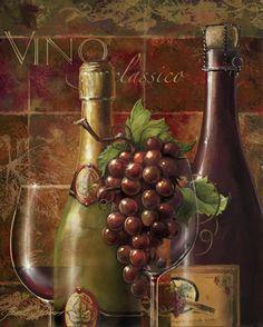 Wine art, Italian wine art, Tuscany, wine paintings by noted American artist Janet Stever.
