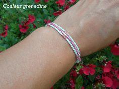 Bracelet en perles de miyuki : Bracelet par couleur-grenadine33