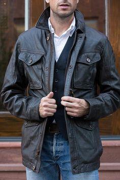 Timberland Leather Jacket - He Spoke Style Timberland Leather Jacket 164bd63e32