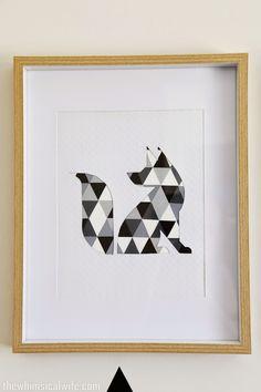 DIY Geometric Animal Wall Art | The Whimsical Wife