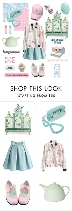 """""""Bird Cage"""" by kawaii-baby-heads ❤ liked on Polyvore featuring Crosley, Chicwish and Mud Australia"""