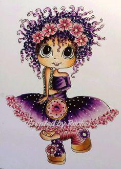 Adult Coloring, Coloring Books, Coloring Pages, Cartoon Drawings, Cute Drawings, Dibujos Cute, Digi Stamps, Copics, Art Dolls