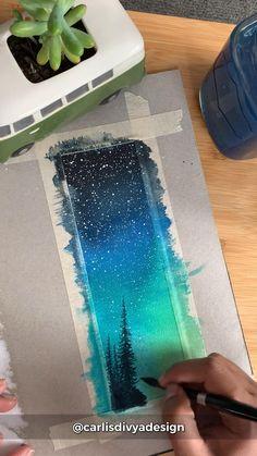 Watercolor Paintings For Beginners, Watercolor Art Lessons, Watercolor Techniques, Watercolor Landscape, Painting Techniques, Watercolor Art Paintings, Watercolors, Diy Canvas Art, Simple Canvas Paintings